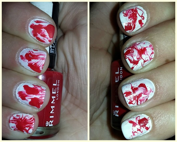 October's Nails Challenge – Bloody Splatter
