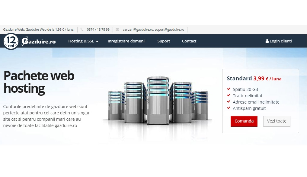 Doriti servicii web hosting de calitate? Gazduire.ro este alegerea perfecta
