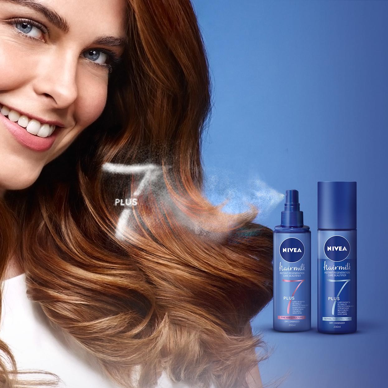 Hidratează-ți părul cu noul Balsam Spray NIVEA Hairmilk 7+ Beneficii