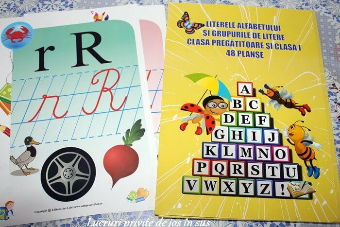 48 Planșe – Literele alfabetului și grupurile de litere, pentru clasa pregătitoare și clasa a I-a